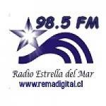 Logo da emissora Radio Estrella del Mar 98.5 FM