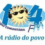 Logo da emissora Rádio 104 FM 104.9
