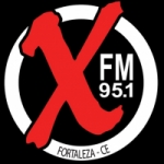 Logo da emissora Rádio X FM 95.1 Fortaleza