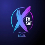 Logo da emissora Rádio X FM Sat Brasil