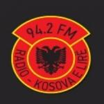 Logo da emissora Radio Kosova e Lire 94.2 FM