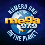 Logo da emissora Radio Mega 97.9 FM - WSKQ