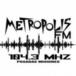 Logo da emissora Radio Metrópolis 104.3 FM