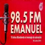 Logo da emissora Radio Emanuel 98.5 FM