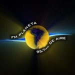 Logo da emissora Radio Planeta 95.7 FM