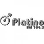 Logo da emissora Radio Platino 104.3 FM