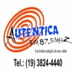Logo da emissora Rádio Autêntica 87.5 FM