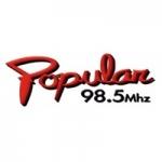 Logo da emissora Radio Popular 98.5 FM