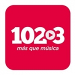 Logo da emissora Nuestra Radio 102.3 FM