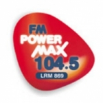 Logo da emissora Radio Power Max 104.5 FM