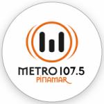 Logo da emissora Radio Metro 107.5 FM