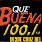 Logo da emissora Radio Que Buena 100.1 FM