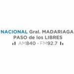 Logo da emissora Radio Nacional Paso de Los Libres 840 AM 92.7 FM