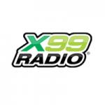Logo da emissora Radio X 99 FM 99.9