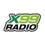 Logo da emissora X99 Radio 99.9 FM