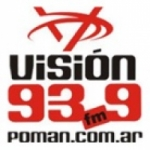 Logo da emissora Radio Visión 93.9 FM