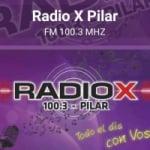 Logo da emissora Radio X 100.3 FM