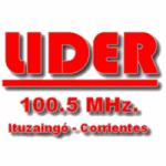 Logo da emissora Radio Lider 100.5 FM