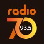Logo da emissora Radio 70 93.5 FM