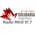 Logo da emissora Radio RKM 97.7 FM