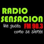 Logo da emissora Radio Sensación 90.3 FM