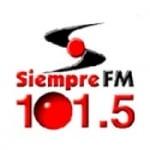 Logo da emissora Radio Siempre 101.5 FM