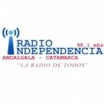 Logo da emissora Radio Independencia 98.1 FM