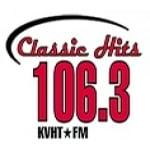 Logo da emissora KVHT 106.3 FM
