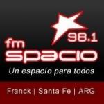 Logo da emissora Radio Spacio 98.1 FM