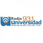 Logo da emissora Radio Universidad 93.1 FM