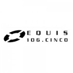 Logo da emissora Radio Equis 106.5 FM