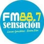 Logo da emissora Radio Sensación 88.7 FM