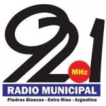 Logo da emissora Radio Municipal 92.1 FM