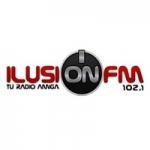 Logo da emissora Radio Ilusión 102.1 FM
