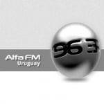 Logo da emissora Radio Alfa 96.3 FM