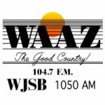 Logo da emissora WAAZ FM 104.7 WJSB AM 1050