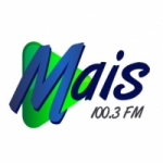 Logo da emissora Rádio Mais 100.3 FM