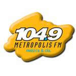 Logo da emissora Radio Metrópolis 104.9 FM
