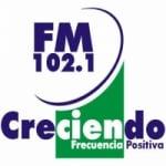 Logo da emissora Radio Creciendo 102.1 FM