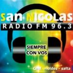 Logo da emissora Radio San Nicolas 96.3 FM