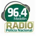 Logo da emissora Radio Policía Medellín 96.4 FM