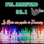 Logo da emissora Radio Amistad 92.1 FM