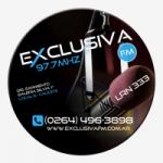 Logo da emissora Radio Exclusiva 97.7 FM