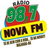 Logo da emissora Rádio Nova FM 98.7