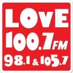 Logo da emissora Radio Love 100.7 FM