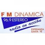 Logo da emissora Radio Dinámica 96.9 FM
