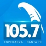 Logo da emissora Radio 105.7 FM