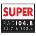 Logo da emissora Radio Super 104.7 FM