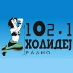 Logo da emissora Holidej 102.1 FM