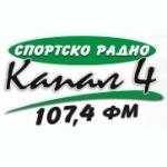 Logo da emissora Kanal 4 107.4 FM